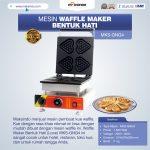 Jual Mesin Waffle Maker Bentuk Hati (Love) MKS-GNG4 di Bogor