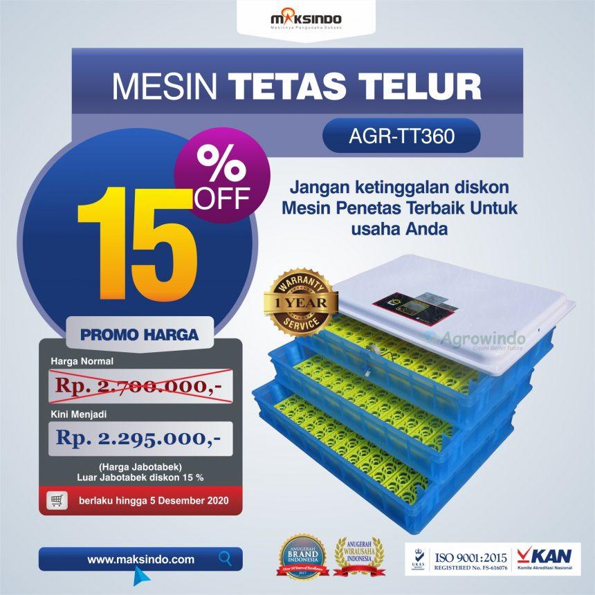 Jual Mesin Penetas Telur AGR-TT360 Di Bogor