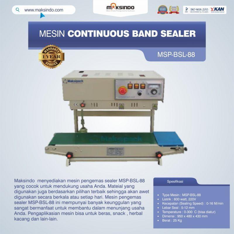 Jual Mesin Continuous Band Sealer MSP-BSL-88 Di Bogor