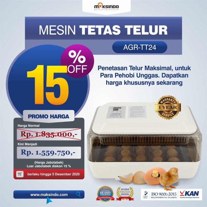 Jual Mesin Tetas Telur (AGR-TT24) di Bogor