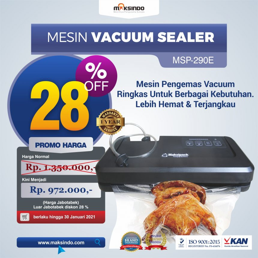Jual Mesin Vacuum Sealer MSP-290E di Bogor