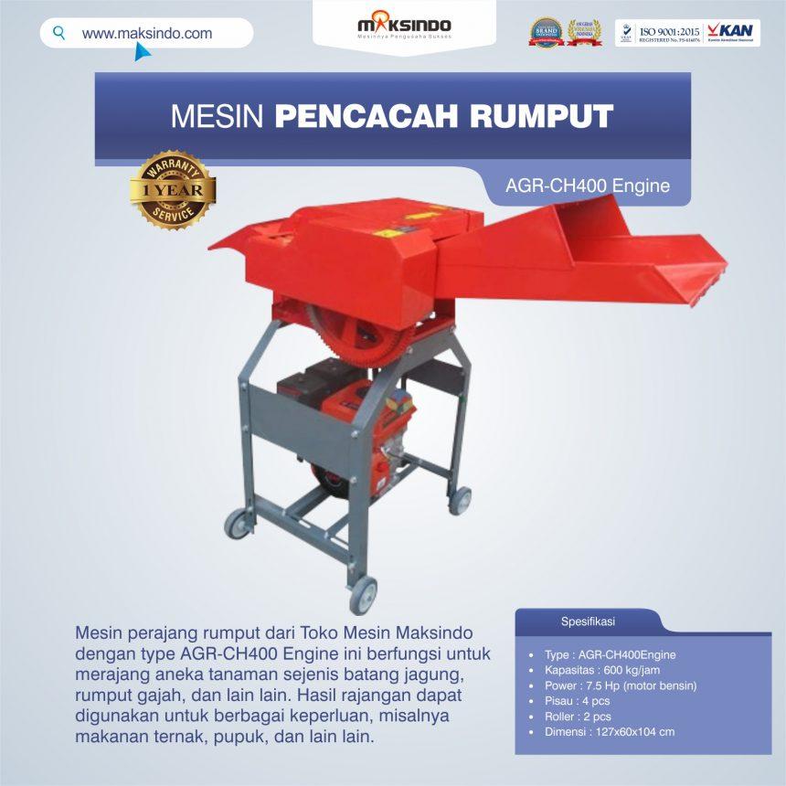 Jual Mesin Pencacah Rumput AGR-CH400 Engine di Bogor