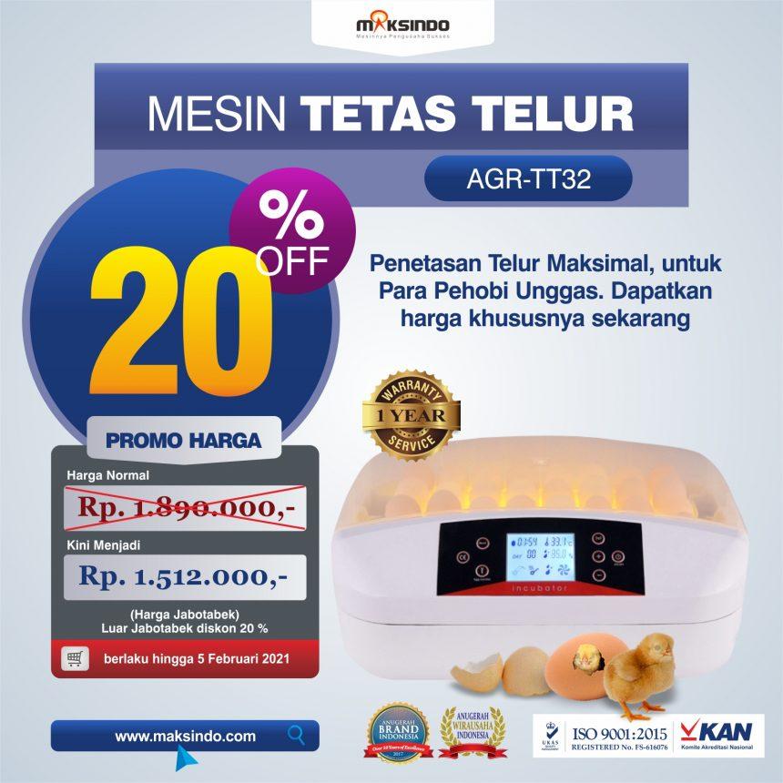 Jual Mesin Penetas Telur 32 Butir (AGR-TT32) di Bogor