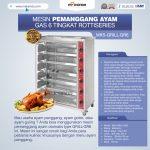 Jual Mesin Pemanggang Ayam Gas 6 Tingkat Rottiseries (GRILL-GR6) di Bogor
