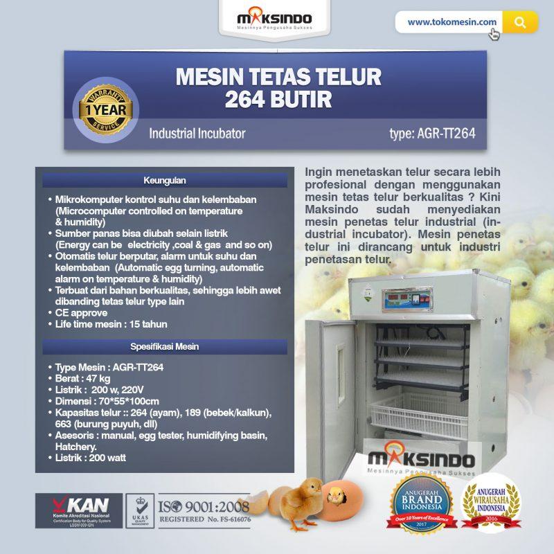 Jual Mesin Tetas Telur Industri 264 Butir (Industrial Incubator) di Bogor