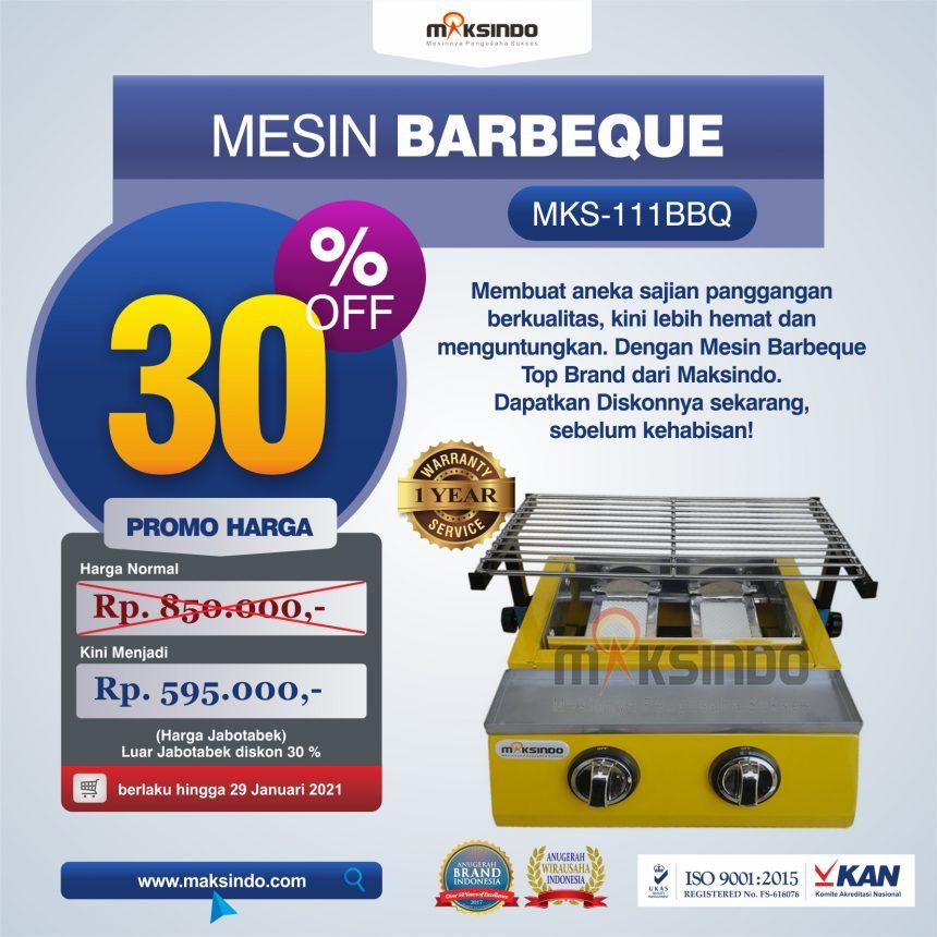 Jual Mesin Pemanggang Sate – BBQ 2 Tungku (Gas) di Bogor