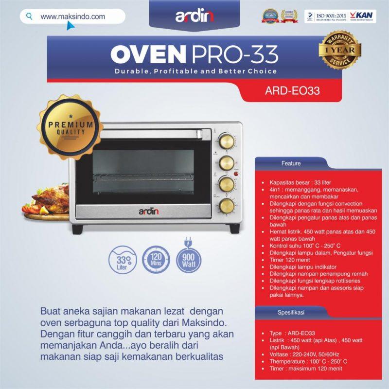 Jual Oven Listrik (Oven Pro-33) di Bogor