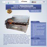 Jual Pemanggang Griddle Flat-Grooved Gas (GG722) di Bogor