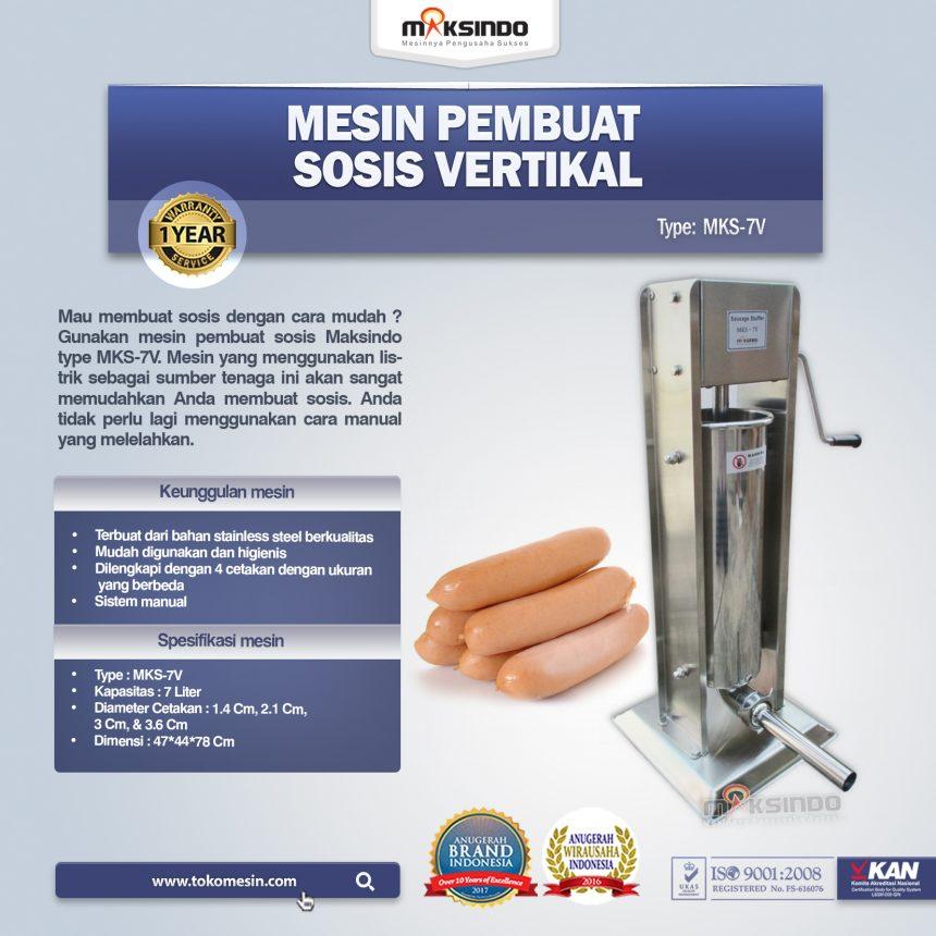 Jual Mesin Pembuat Sosis Vertikal MKS-7V di Bogor