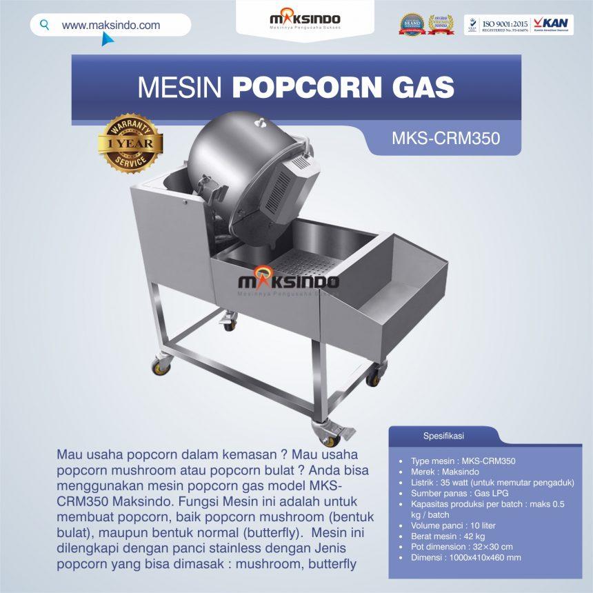 Jual Mesin Popcorn Gas Model MKS-CRM350 di Bogor
