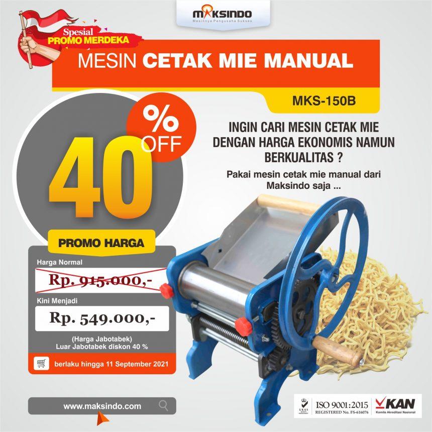 Jual Mesin Cetak Mie Manual (MKS-150B) Untuk Usaha di Bogor