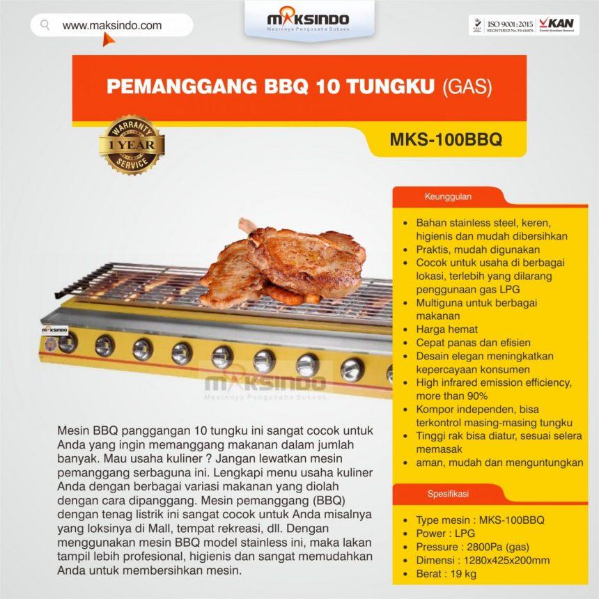Jual Pemanggang BBQ 10 Tungku (Gas) di Bogor