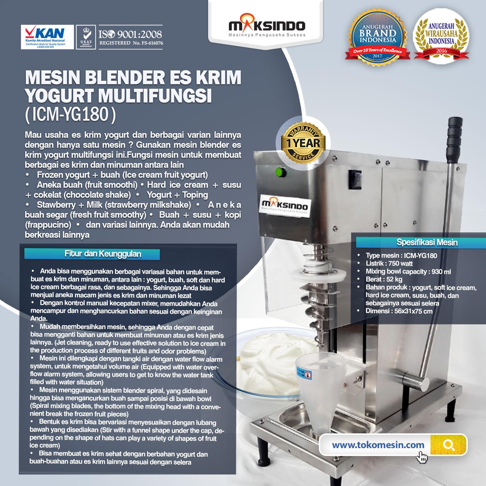 Jual Mesin Blender Es Krim Yogurt Multifungsi di Bogor ...