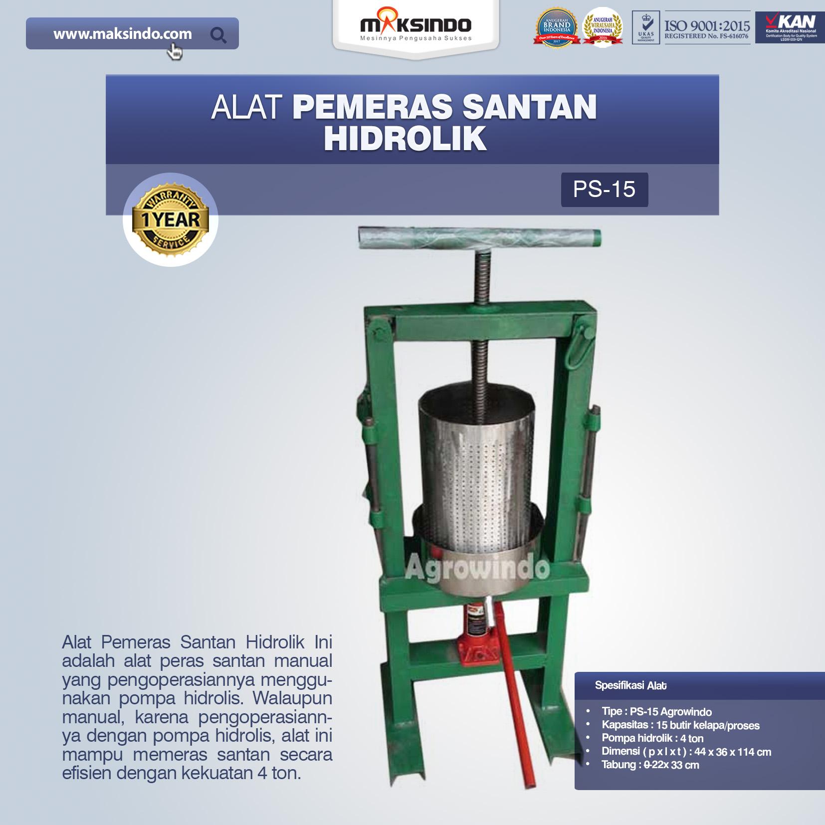 Jual Mesin Pemeras Santan di Bogor