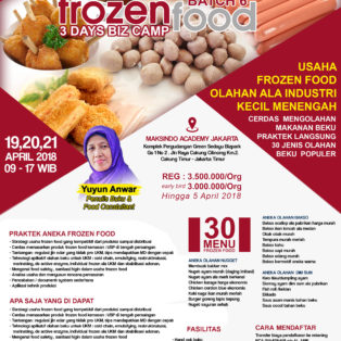 Training Usaha Frozen Food 19 21 April 2018 Toko Mesin