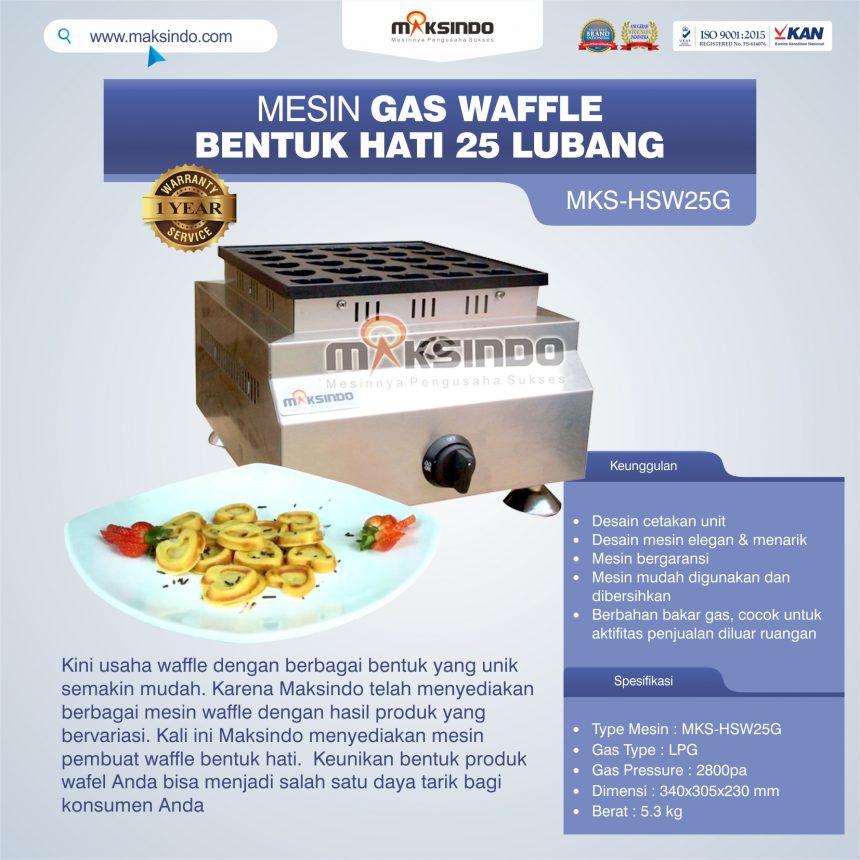 Jual Gas Waffle Bentuk Hati 25 Lubang MKS-HSW25G Di Bogor