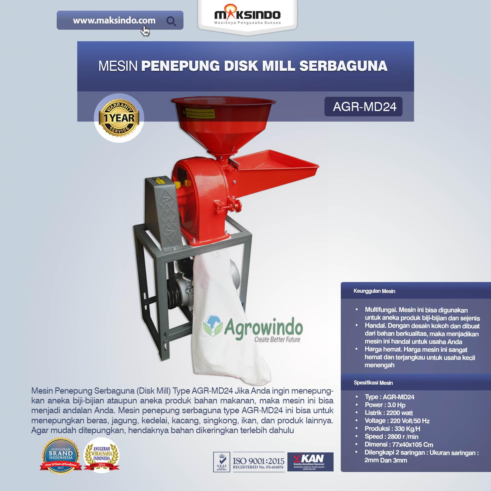 Jual Penepung Disk Mill Serbaguna (AGR-MD24) di Bogor