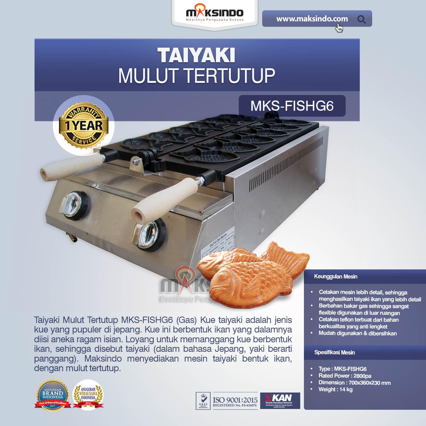 Jual Taiyaki Mulut Tertutup (Gas) di Bogor