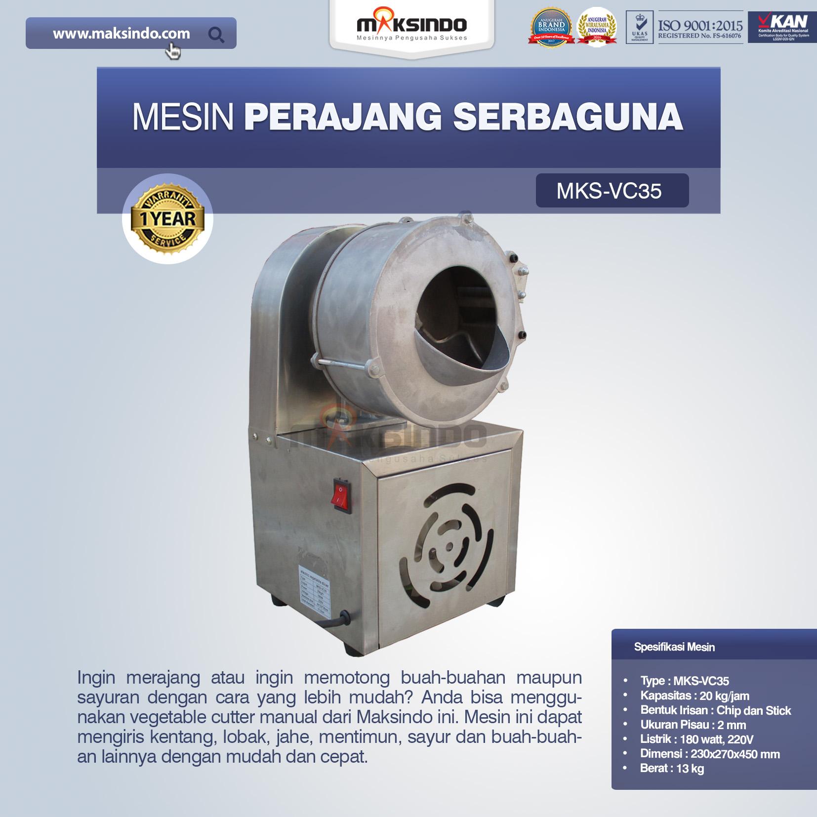 Jual Mesin Perajang SerbagunaMKS-VC35 di Bogor