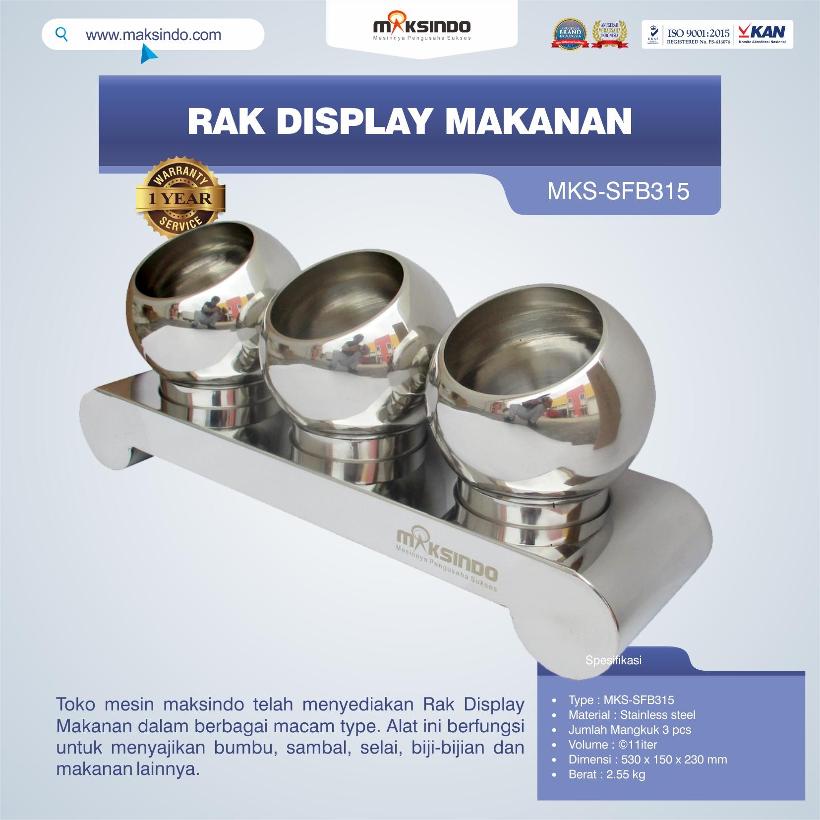 Jual Rak Display Makanan MKS-SFB315 di Bogor