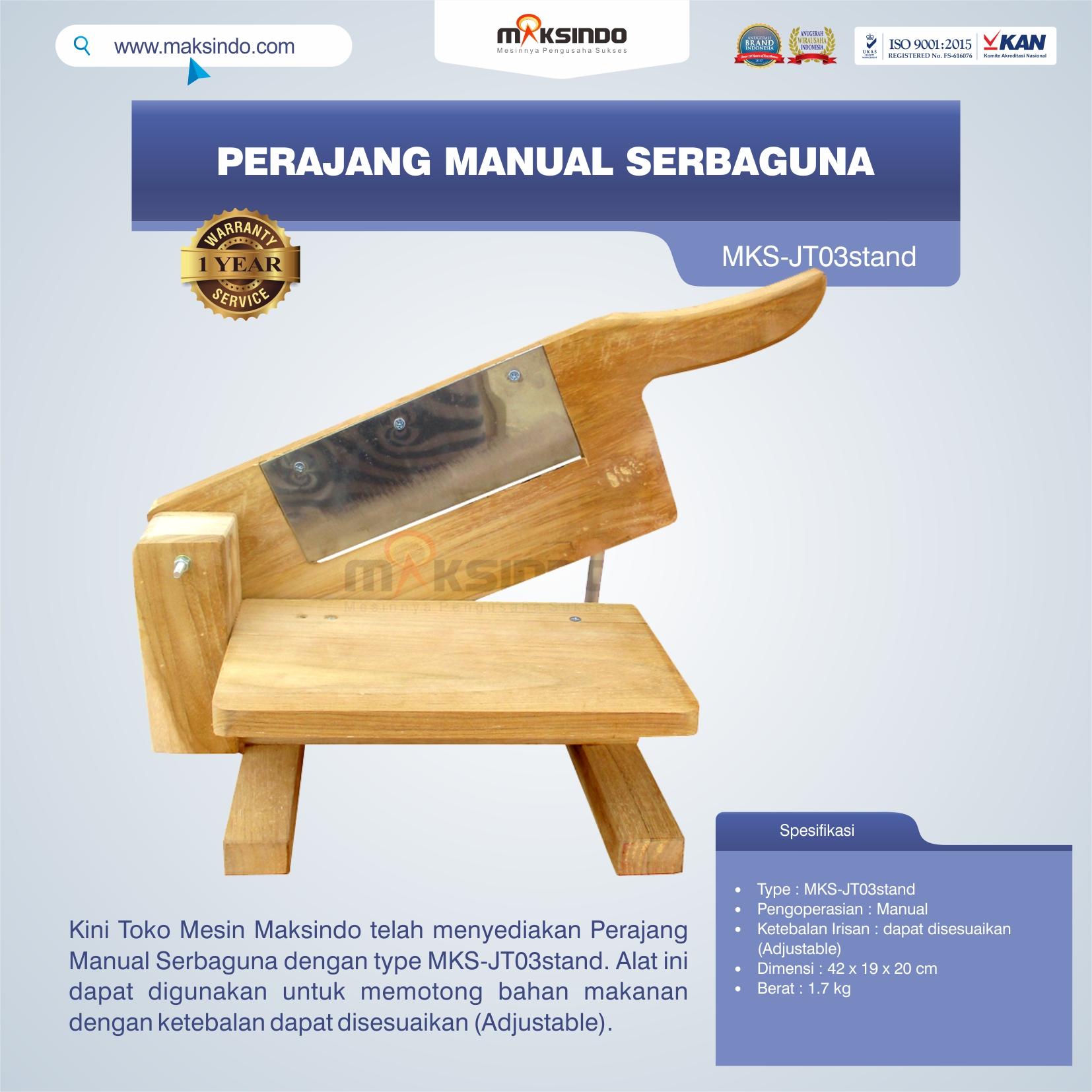 Jual Perajang Manual Serbaguna MKS-JT03stand di Bogor