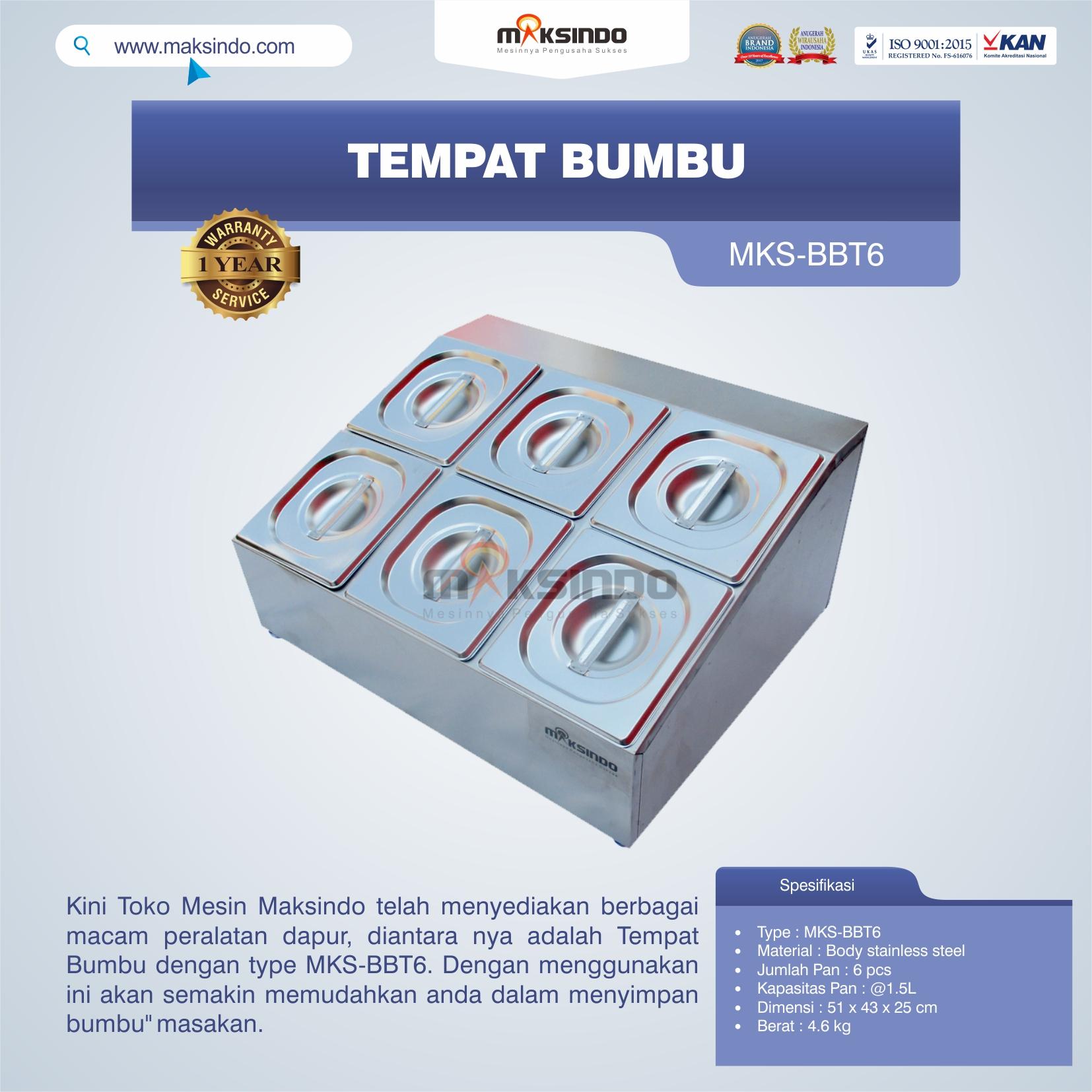 Jual Tempat Bumbu MKS-BBT6 di Bogor