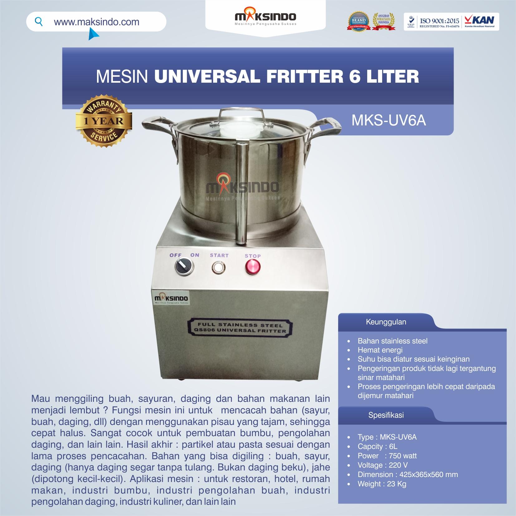 Jual Universal Fritter 6 Liter (MKS-UV6A) di Bogor