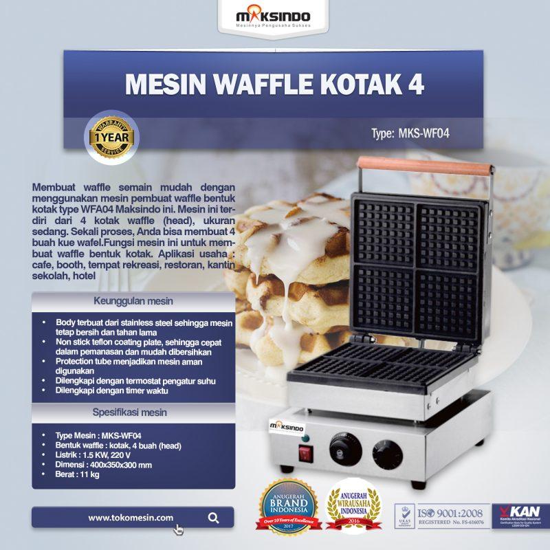 Jual HOT DEAL Mesin Waffle Kotak 4 (WF04) di Bogor