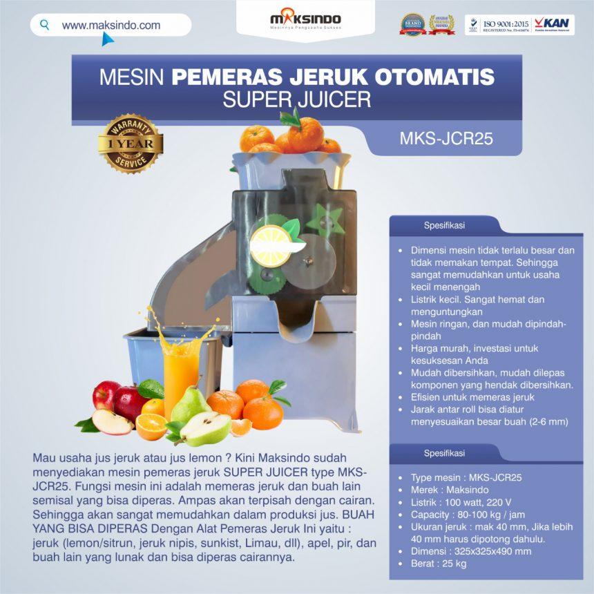 Jual Mesin Pemeras Jeruk Otomatis Super Juicer MKS-JCR25 di Bogor