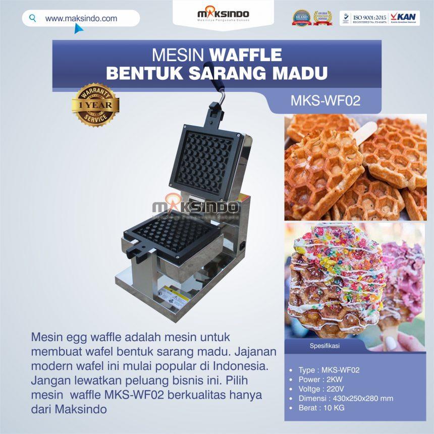 Jual Mesin Waffle Bentuk Sarang Madu MKS-WF02 di Bogor