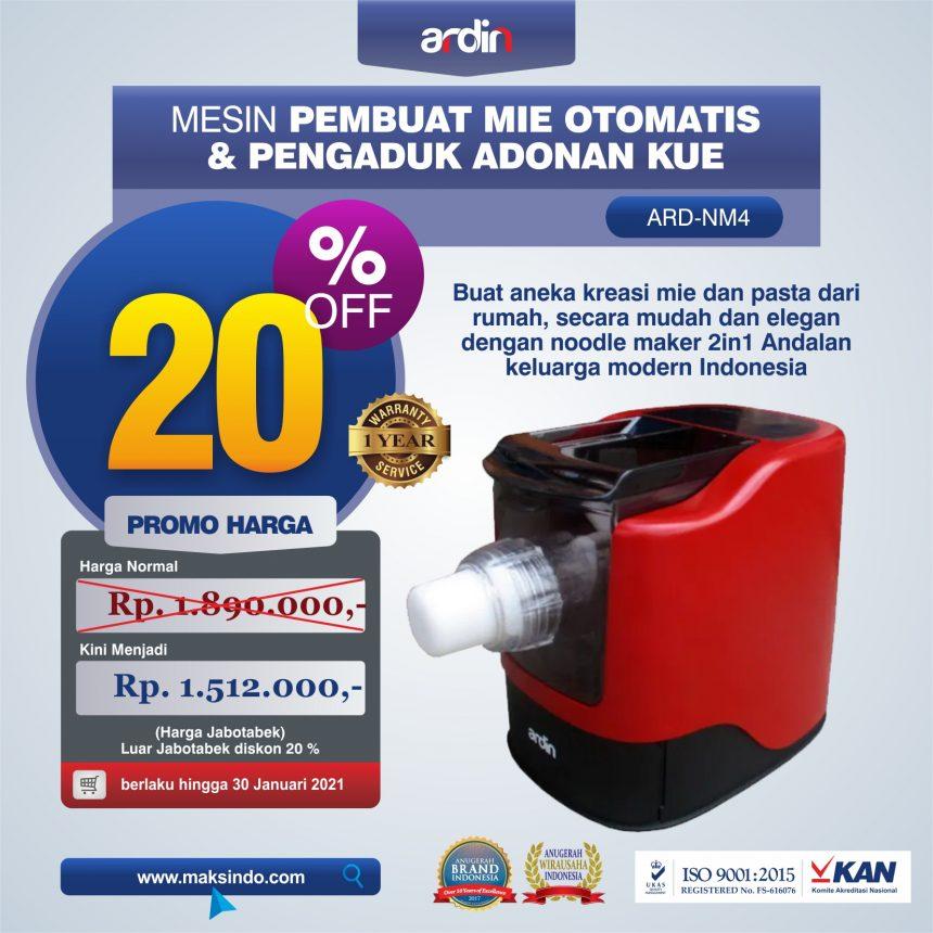 Jual Noodle Maker 2in1 Pembuat Mie Otomatis dan Pengaduk Adonan Kue ARD-NM4 di Bogor