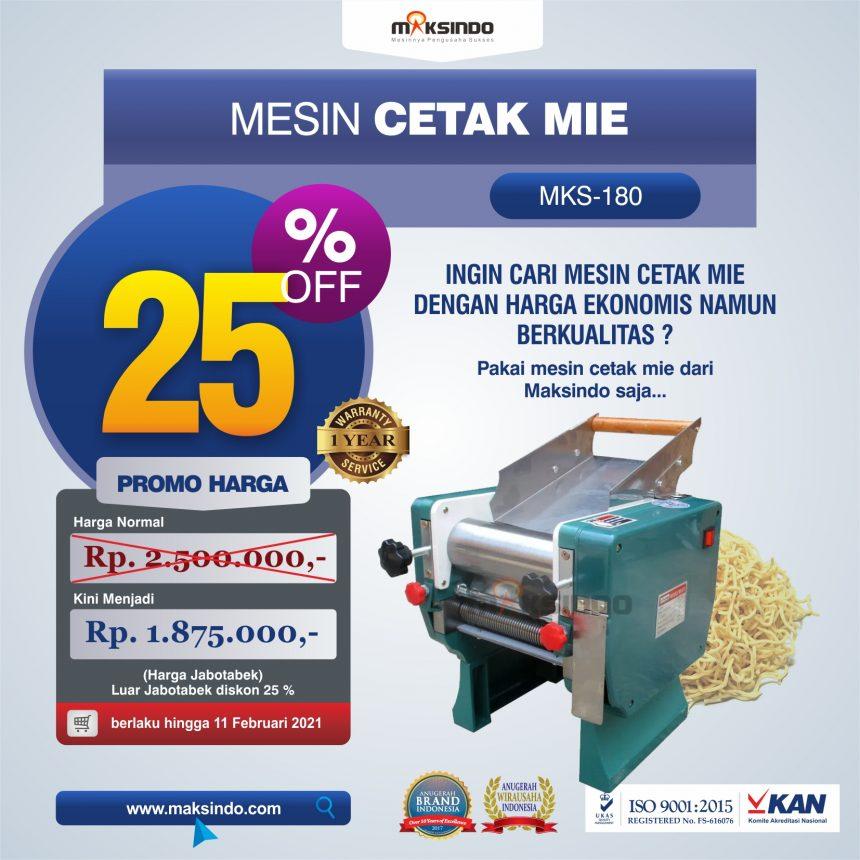 Jual Mesin Cetak Mie (MKS-180) di Bogor