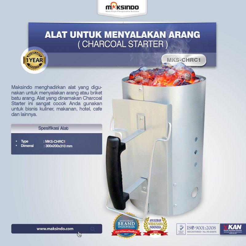 Jual Alat Untuk Menyalakan Arang (Charcoal Starter) MKS-CHRC1 di Bogor