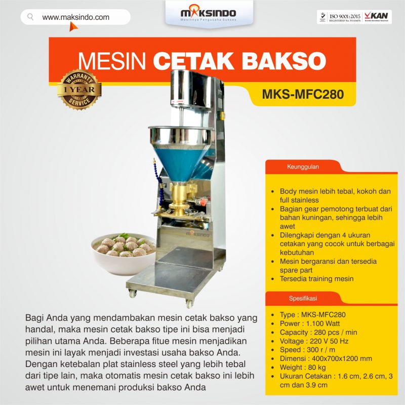 Jual Mesin Cetak Bakso MKS-MFC280 di Bogor